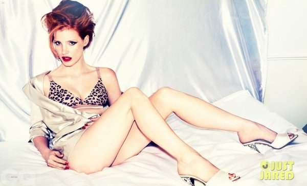 Jessica Chastain pose pour GQ.