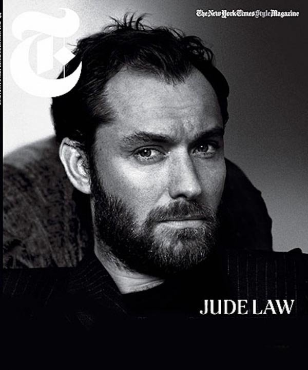 Jude Law pose pour The New York Times Style Magazine.