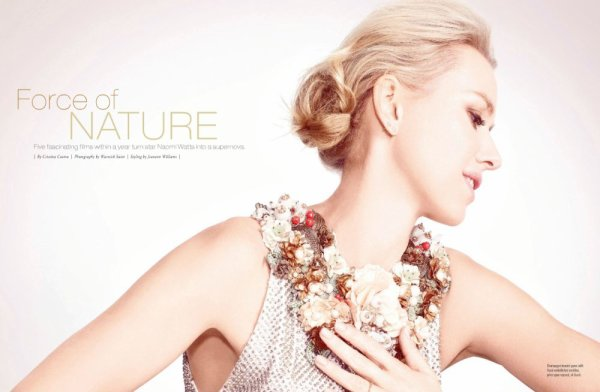 Naomi Watts pose pour Manhattan.