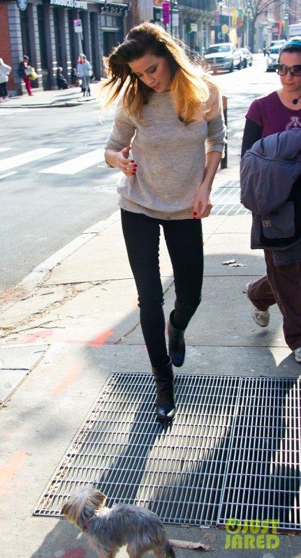 Amber Heard de sortie. Philadelphie