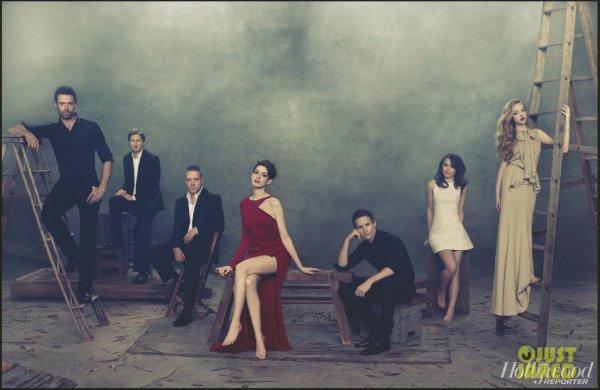 Les acteurs des Misérables posent pour The Hollywood Reporter.