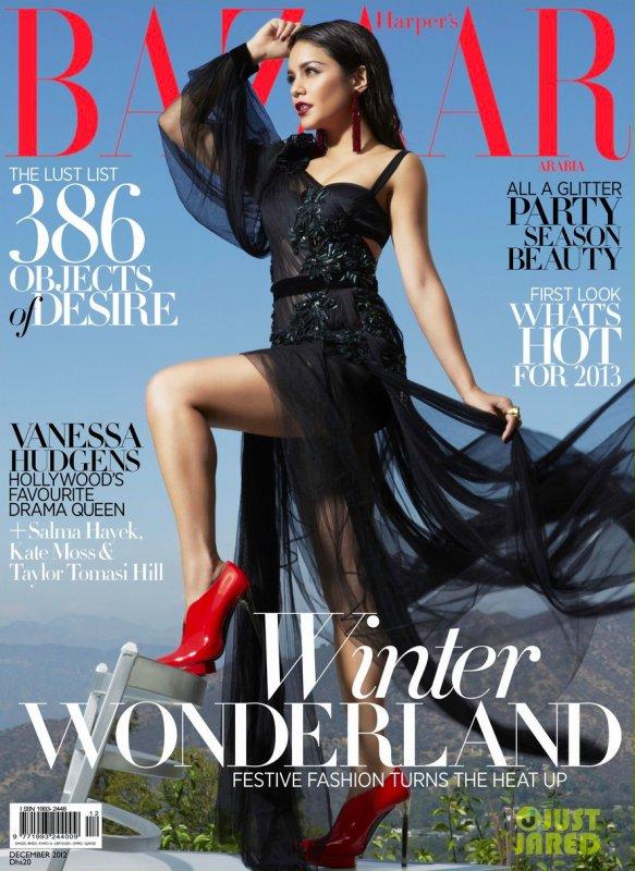 Vanessa Hudgens pose pour Harper's Bazaar.