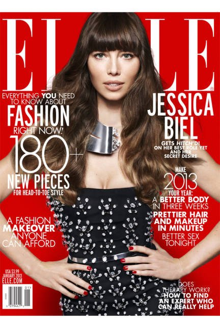 Jessica Biel pose pour ELLE.