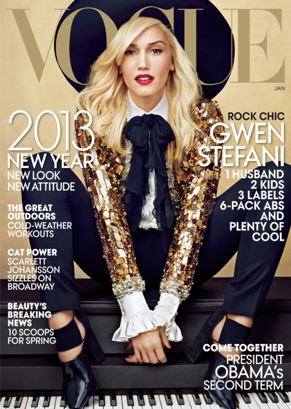Gwen Stefani pose pour Vogue.
