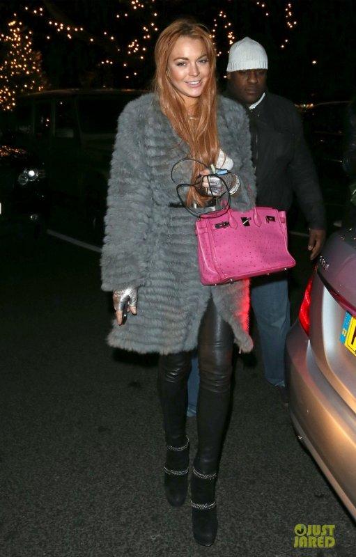 Lindsay Lohan de sortie.