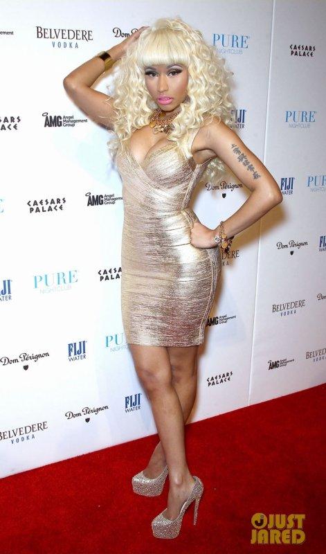 Nicki Minaj à un évènement pour le nouvel an. Las Vegas