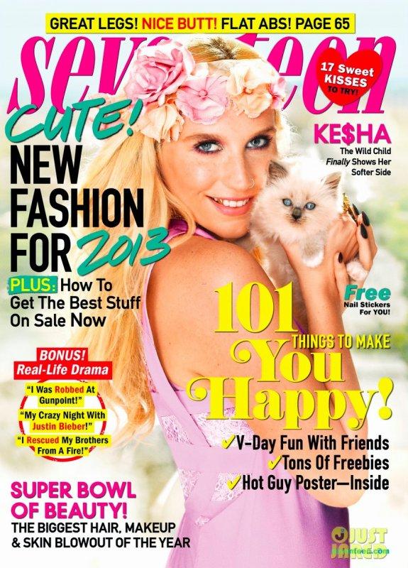 Kesha pose pour Seventeen.