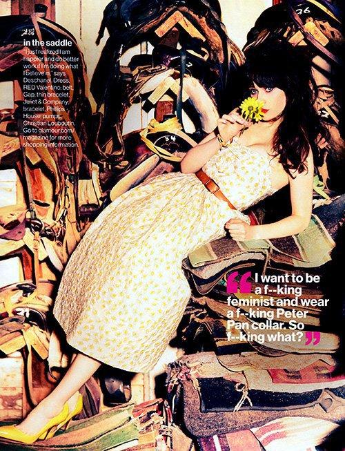 Zooey Deschanel pose pour Glamour.