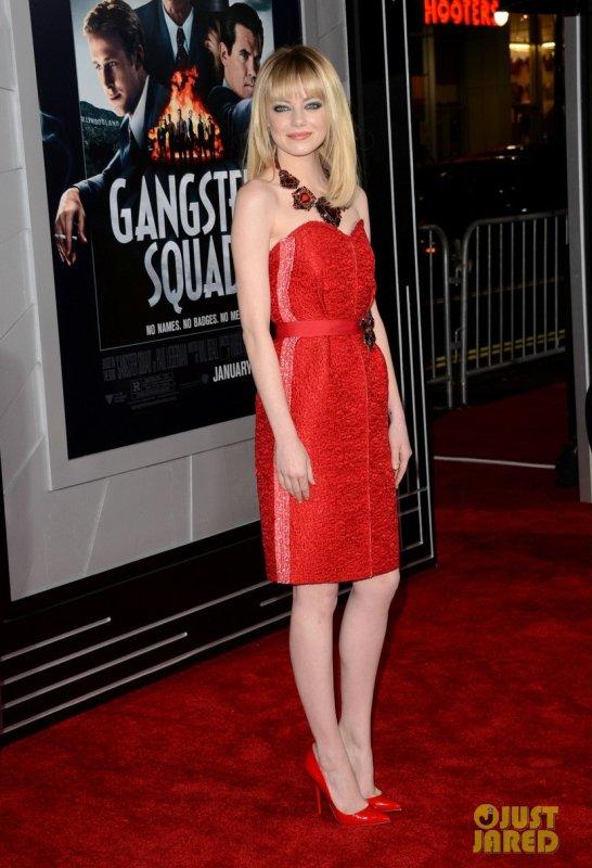 Emma Stone et Ryan Gosling à la première de leur film Gangster Squad. Hollywood