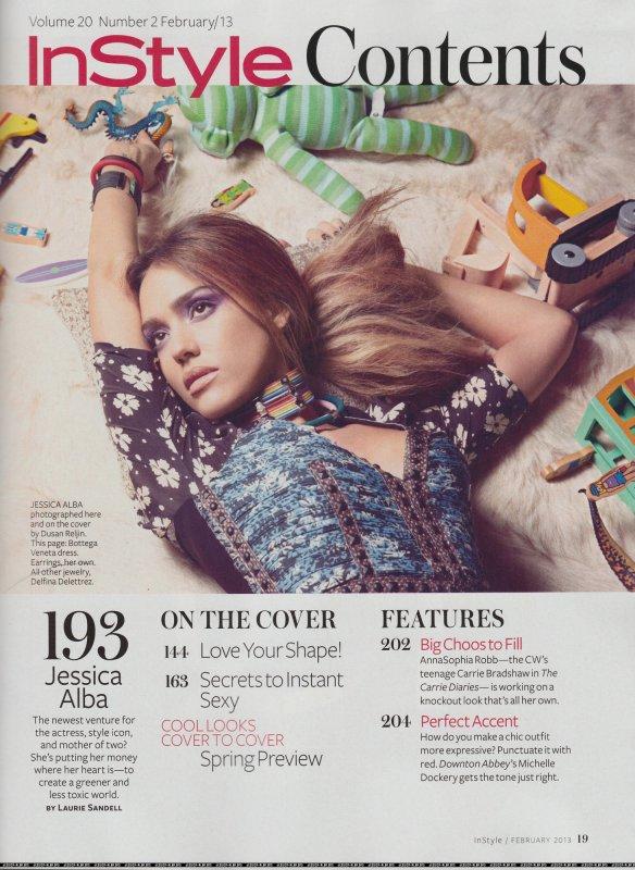 Jessica Alba pose pour InStyle.