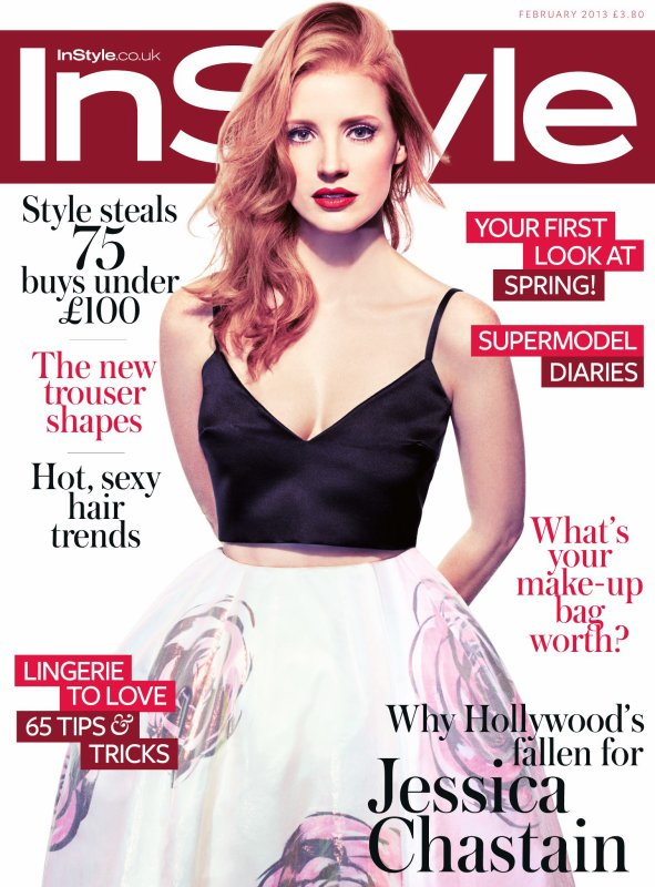 Jessica Chastain pose pour InStyle.