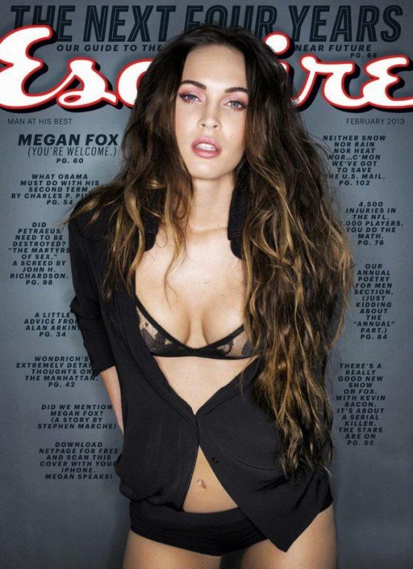 Megan Fox pose pour Esquire.