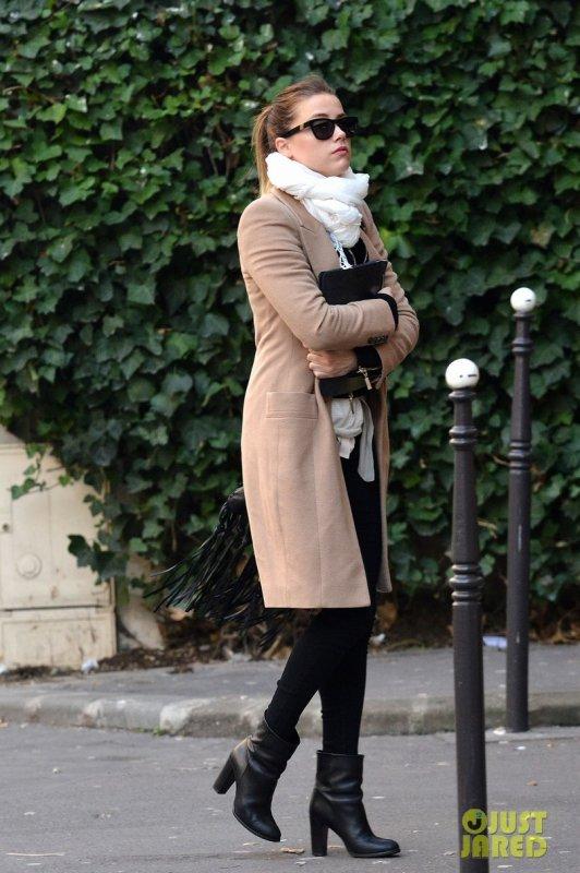 Amber Heard de sortie. Paris