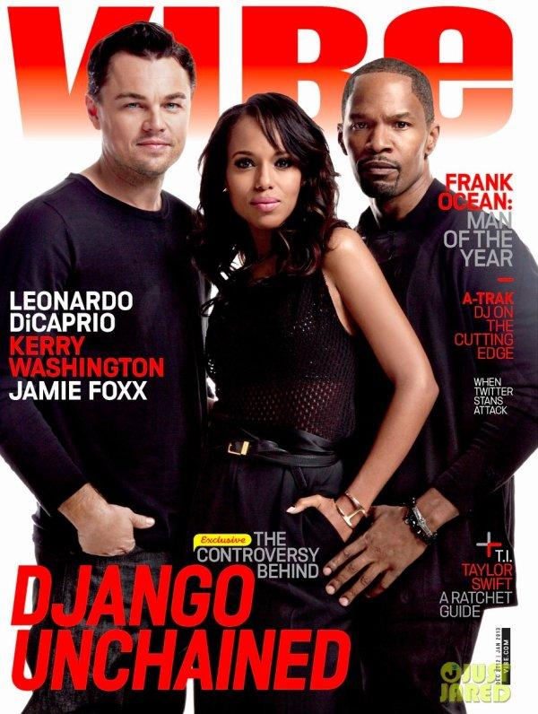 Les acteurs de Django Unchained posent pour Vibe.