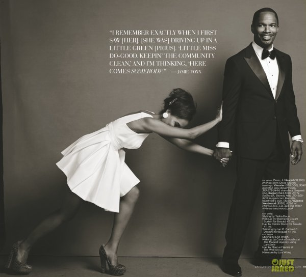 Kerry Washington et Jamie Fox posent pour Los Angeles Confidential.