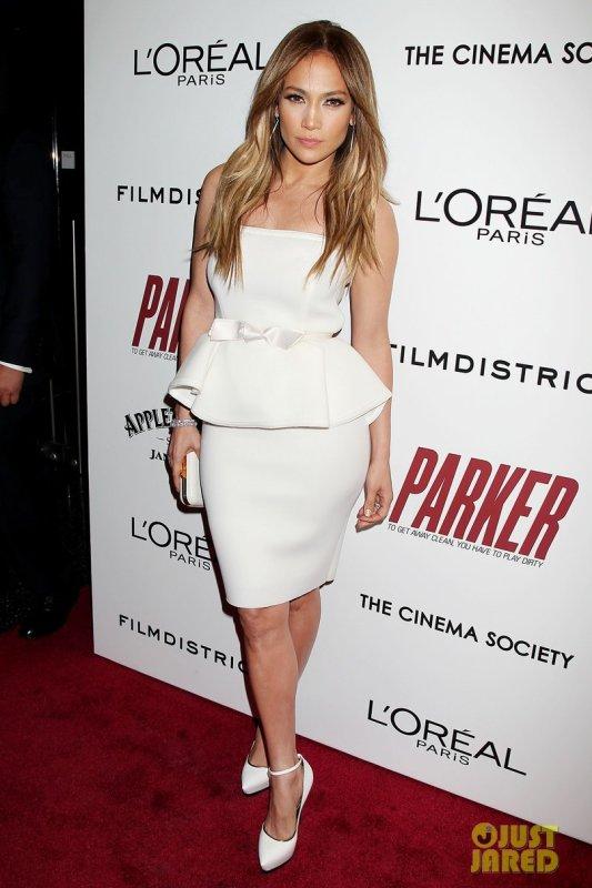 Jennifer Lopez à la première d'un film. New York