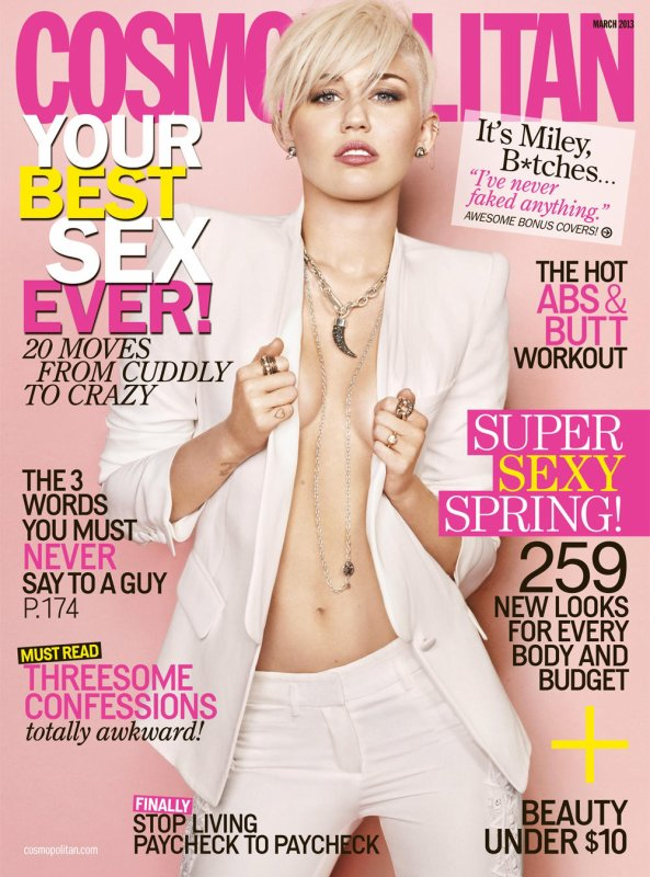 Miley Cyrus pose pour Cosmopolitan.
