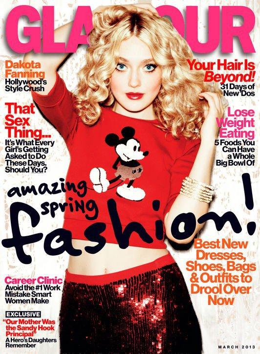 Dakota Fanning pose pour Glamour.