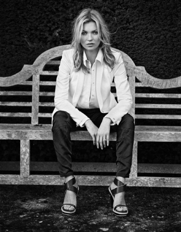 Kate Moss pose pour Rag&Bone. printemps / été 2013