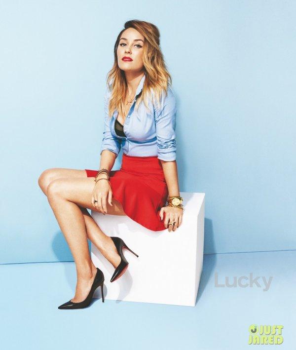 Lauren Conrad pose pour Lucky.