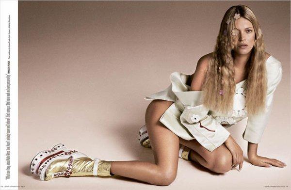 Kate Moss pose pour I-D.