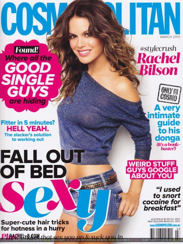 Rachel Bilson pose pour Cosmopolitan.