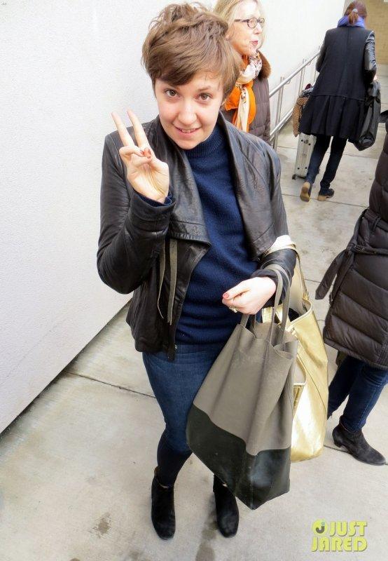 Lena Dunham de sortie.