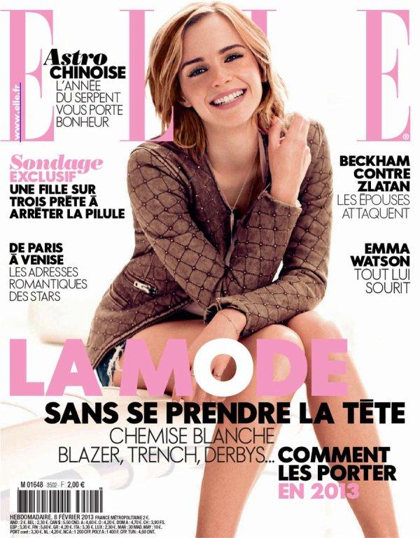 Emma Watson pose pour ELLE.