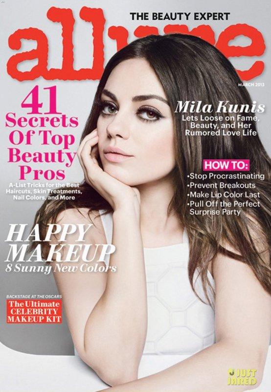 Mila Kunis pose pour Allure.