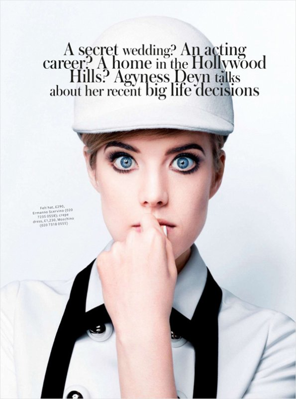 Agyness Deyn pose pour InStyle.