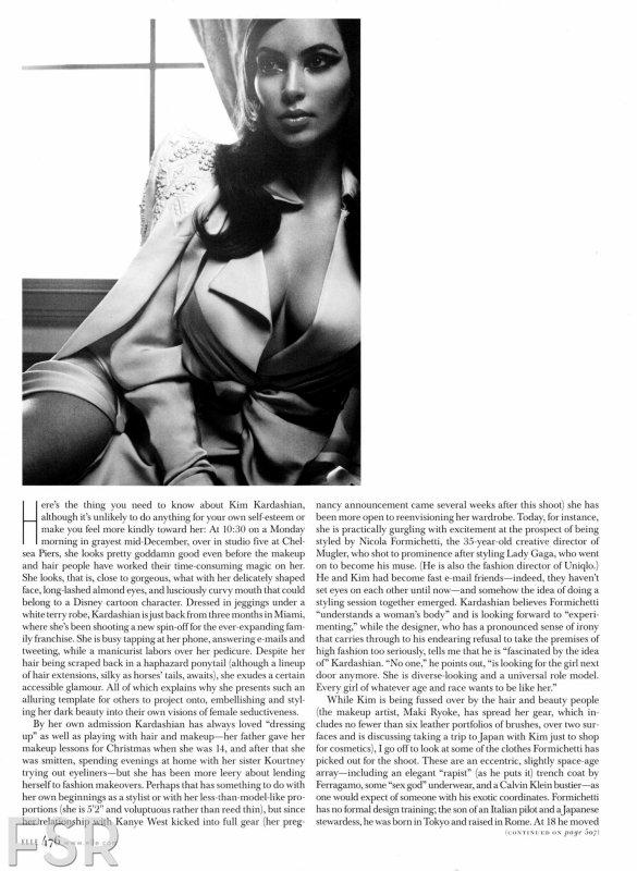 Kim Kardashian pose pour ELLE.