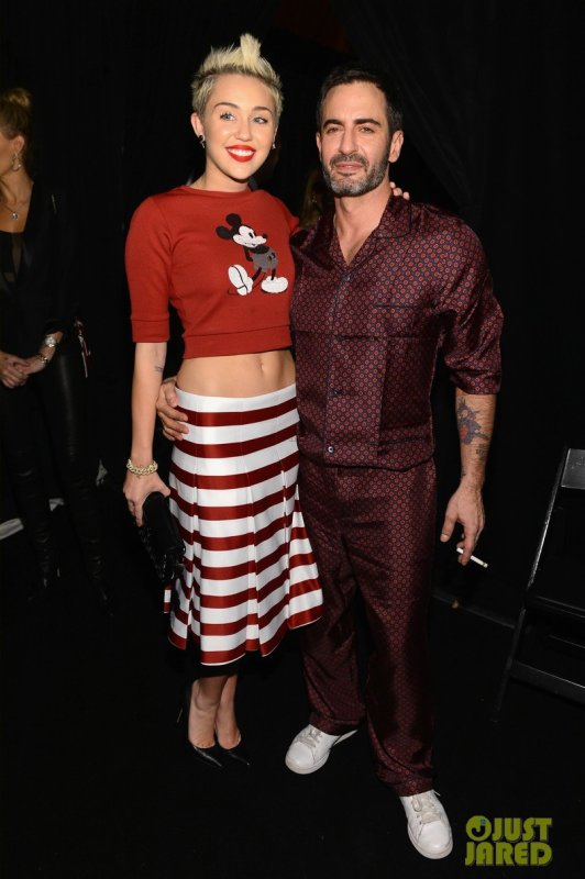 Miley Cyrus au défilé Marc Jacobs. New York