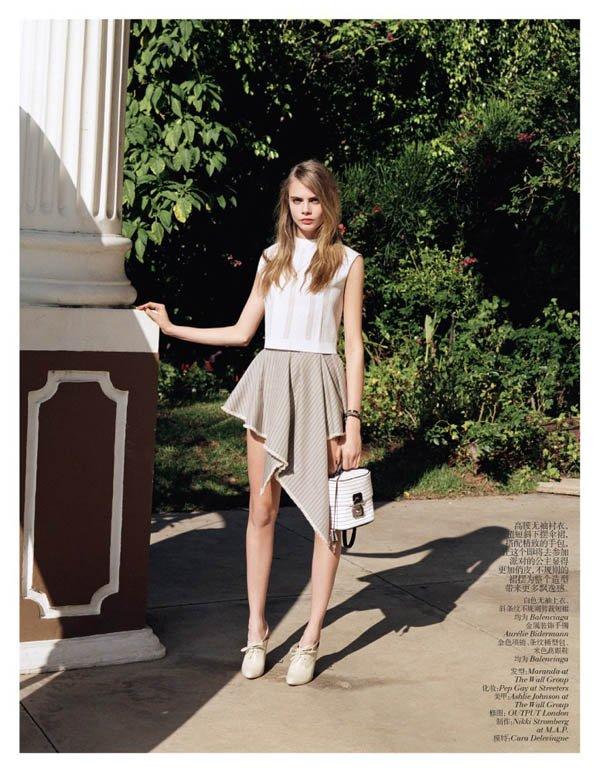 Cara Delevingne pose pour Vogue.