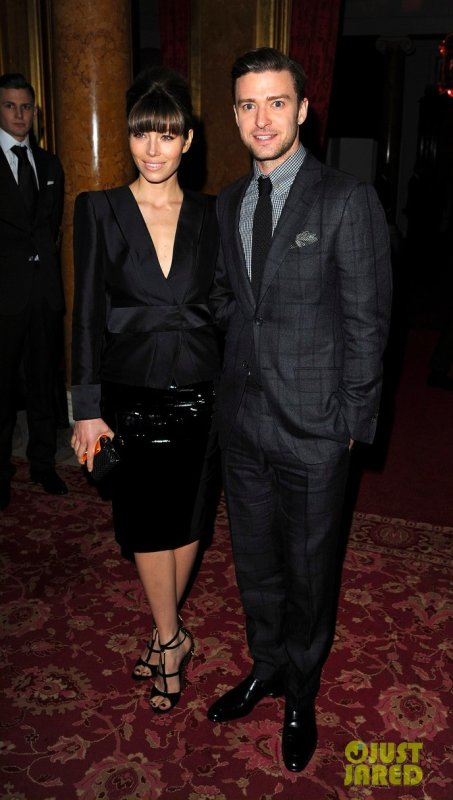 Jessica Biel et Justin Timberlake au défilé Tom Ford. Londres
