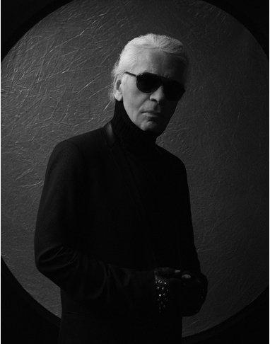 Karl Lagerfeld comme vous ne l'avez jamais vu source : Vogue.fr