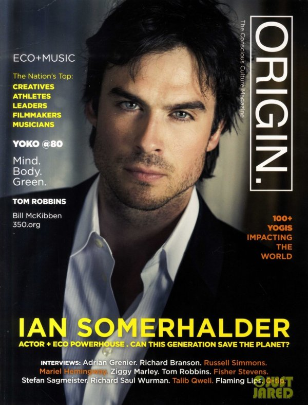 Ian Somerhalder pose pour Origin.