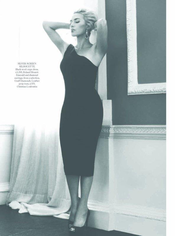 Kate Winslet pose pour Harper's Bazaar.