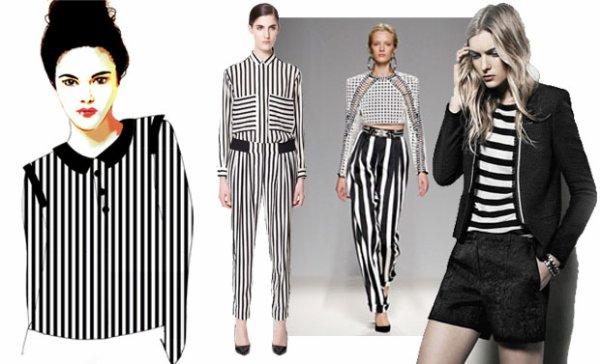 La tendance graphique en noir et blanc. source : Madmoizelle.com