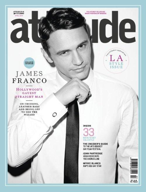 James Franco pose pour Attitude.