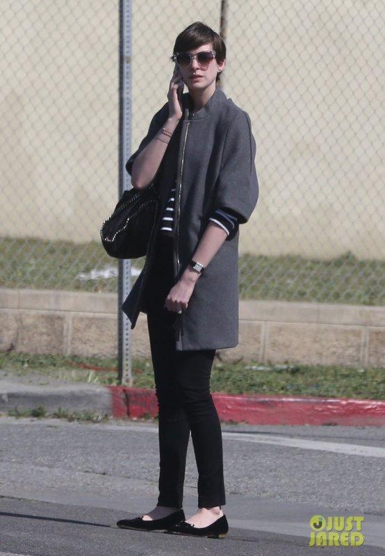 Anne Hathaway de sortie. Los Angeles