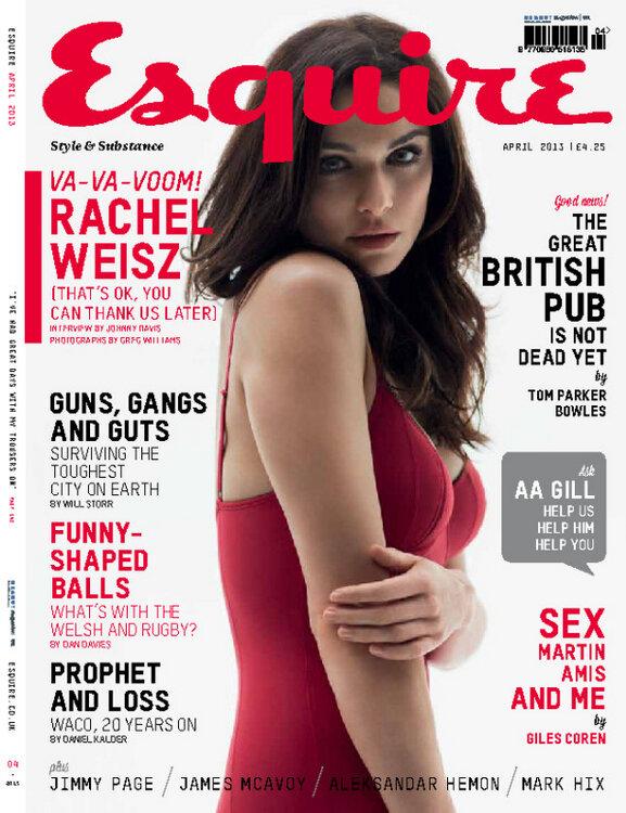 Rachel Weisz pose pour Esquire.