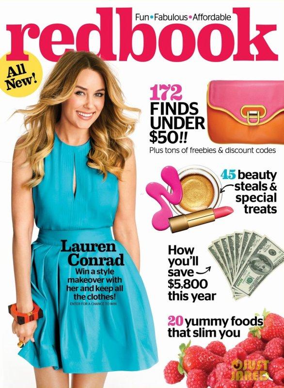 Lauren Conrad pose pour Redbook.