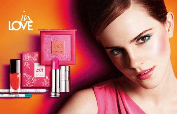 Emma Watson pose pour Lancôme.