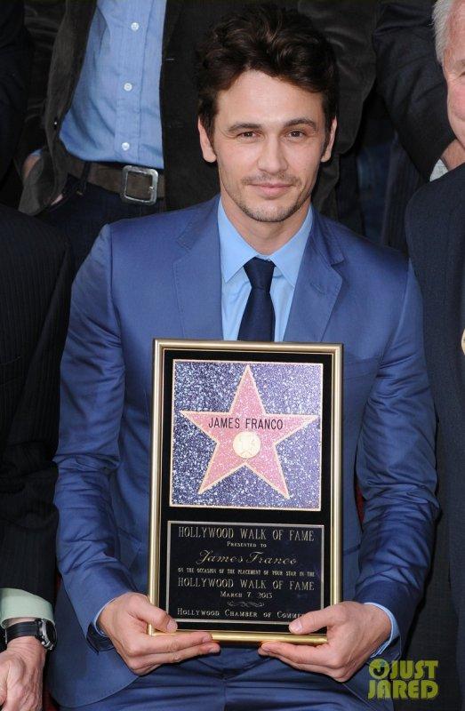 James Franco à reçu une étoile sur le Hollywood Walk of Fame. Hollywood