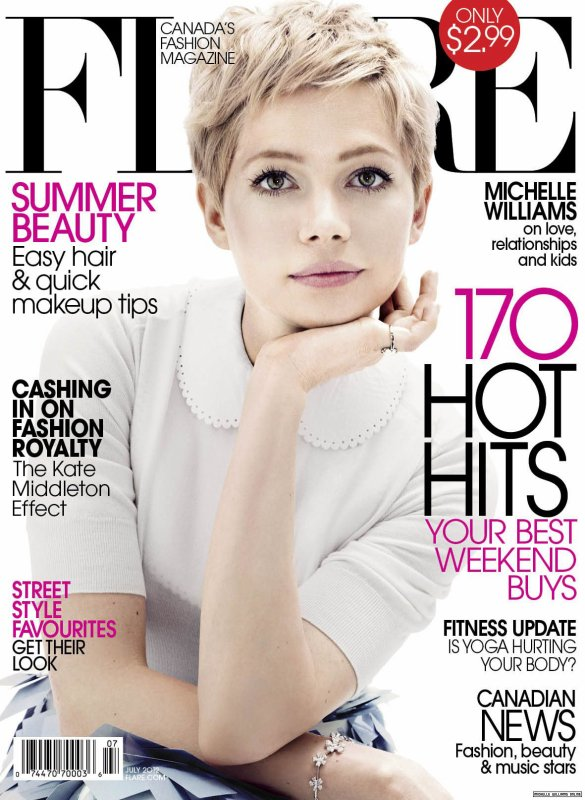 Michelle Williams pose pour Flare.