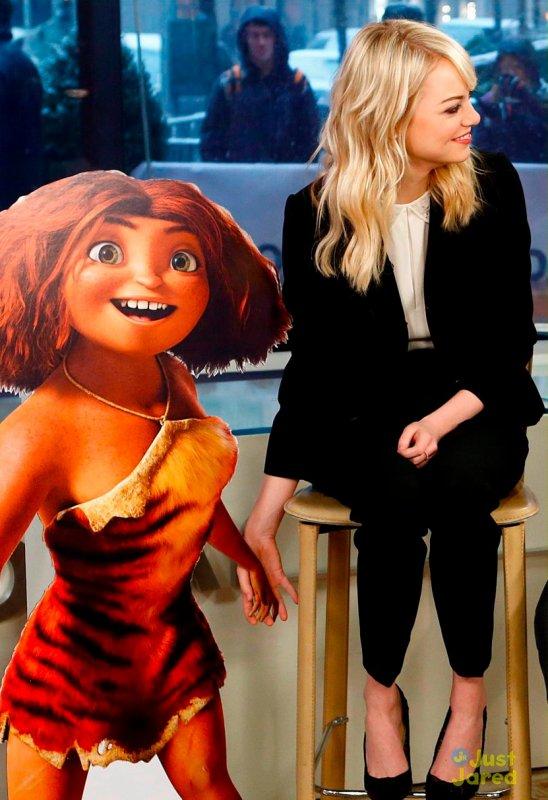 Emma Stone fait la promo de The Croods sur un plateau télé.