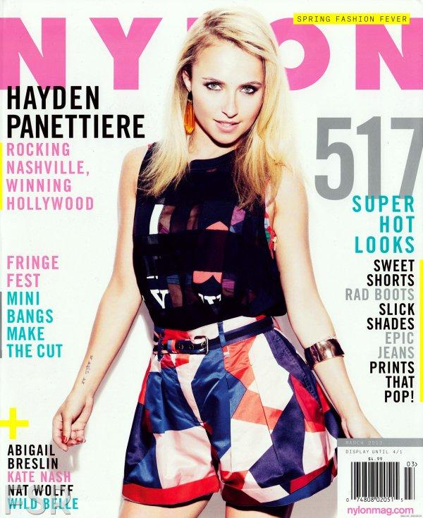 Hayden Panettiere pose pour Nylon.