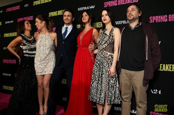 Première du film Spring Breakers. Hollywood