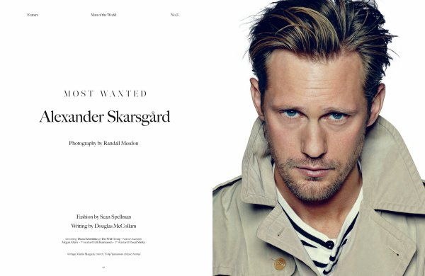 Alexander Skarsgard pose pour Man of The World.