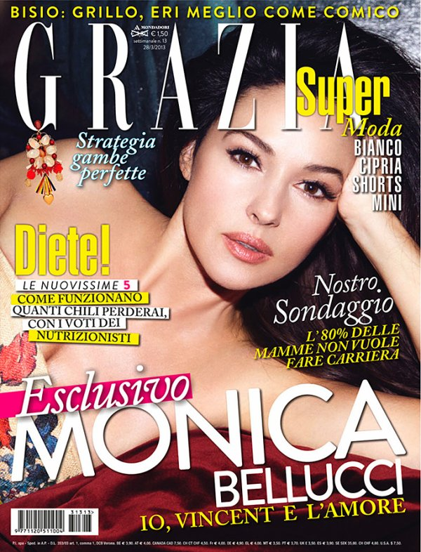 Monica Bellucci pose pour Grazia.